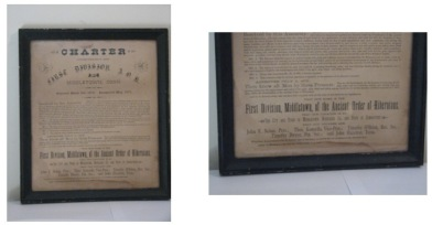 Charter of the Middletown Ancient Order of Hibernians, c. 1870