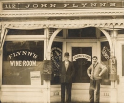 John Wiernasz (R), bartender at Flynn's Win Room on Court St.