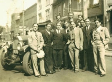 young-men-on-main-street-1932